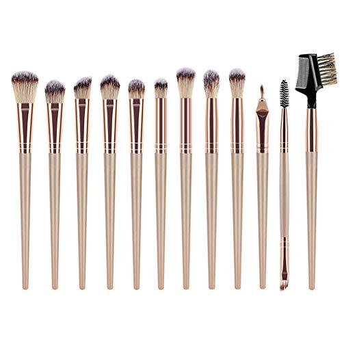 12shage Pinceau De Maquillage Haut De Gamme En Plastique Poignée Qualité Bouche Tube Nylon Cheveux