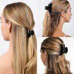 6 pièces pinces à cheveux pinces à cheveux antidérapantes forte tenue pince poignée mode chapeaux pinces à cheveux pince pince pour femmes filles, 9 cm et 5 cm