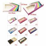 HLWJ Coups de Fouet holographiques boîte 20/50/100 / 200pcs Cils en Papier Doux Emballage for Faux Cils (Color : O, Size : 100box)