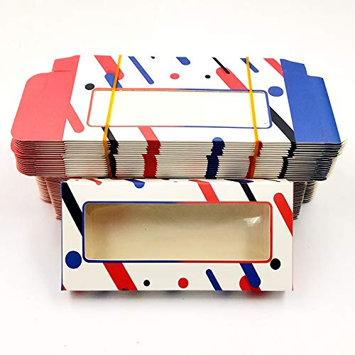 HLWJ Coups de Fouet holographiques boîte 20/50/100 / 200pcs Cils en Papier Doux Emballage for Faux Cils (Color : O, Size : 200box)
