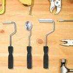 Kit d'outils de rouleau de réparation de bateau de baignoire outil de rouleau de fibre de verre 3 pièces pour la réparation de bateau, projets de bricolage pour douche de baignoire