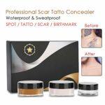 Correcteur de cicatrices – Correcteur de tatouage professionnel pour les cicatrices, pour le vitiligo, ensemble de crème de couverture pour le maquillage et taches, correcteur de tatouage