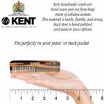 Kent Peigne de poche et lime à ongles fait main dans un étui en cuir