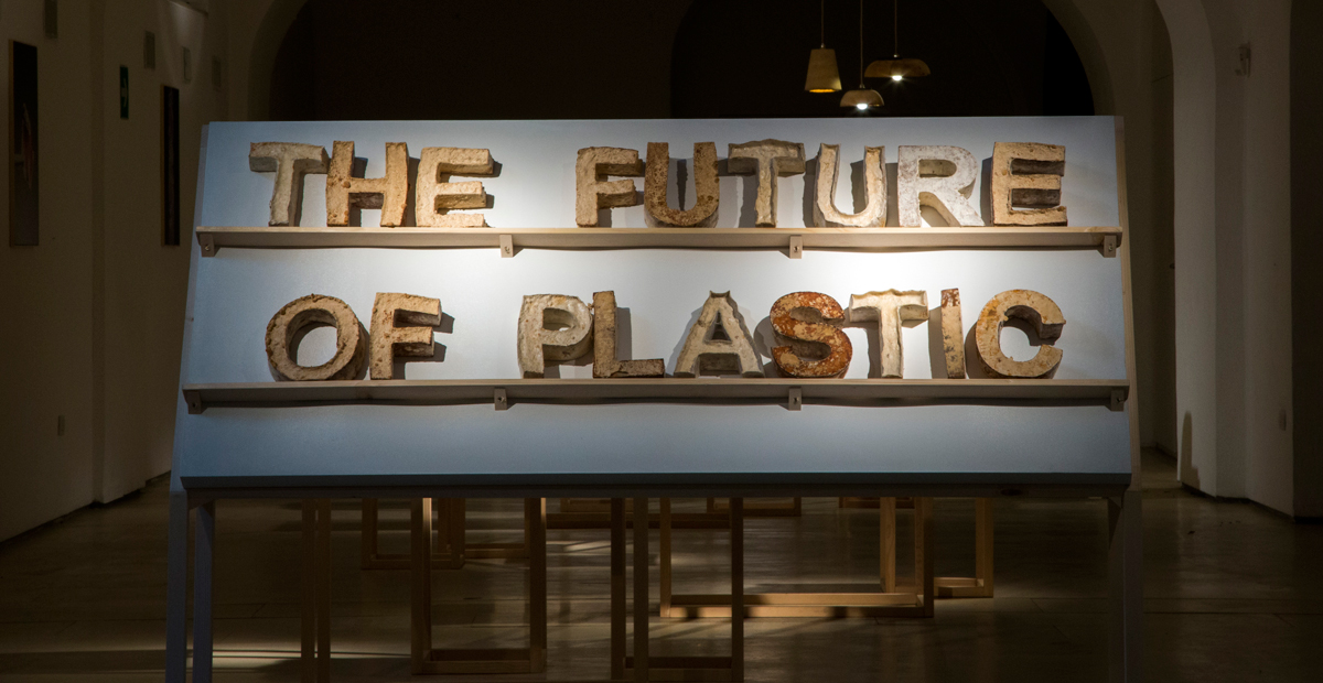 3.The Future of Plastic ©Officina Corpuscoli | Maurizio Montalti - Intro Exhibition - Title