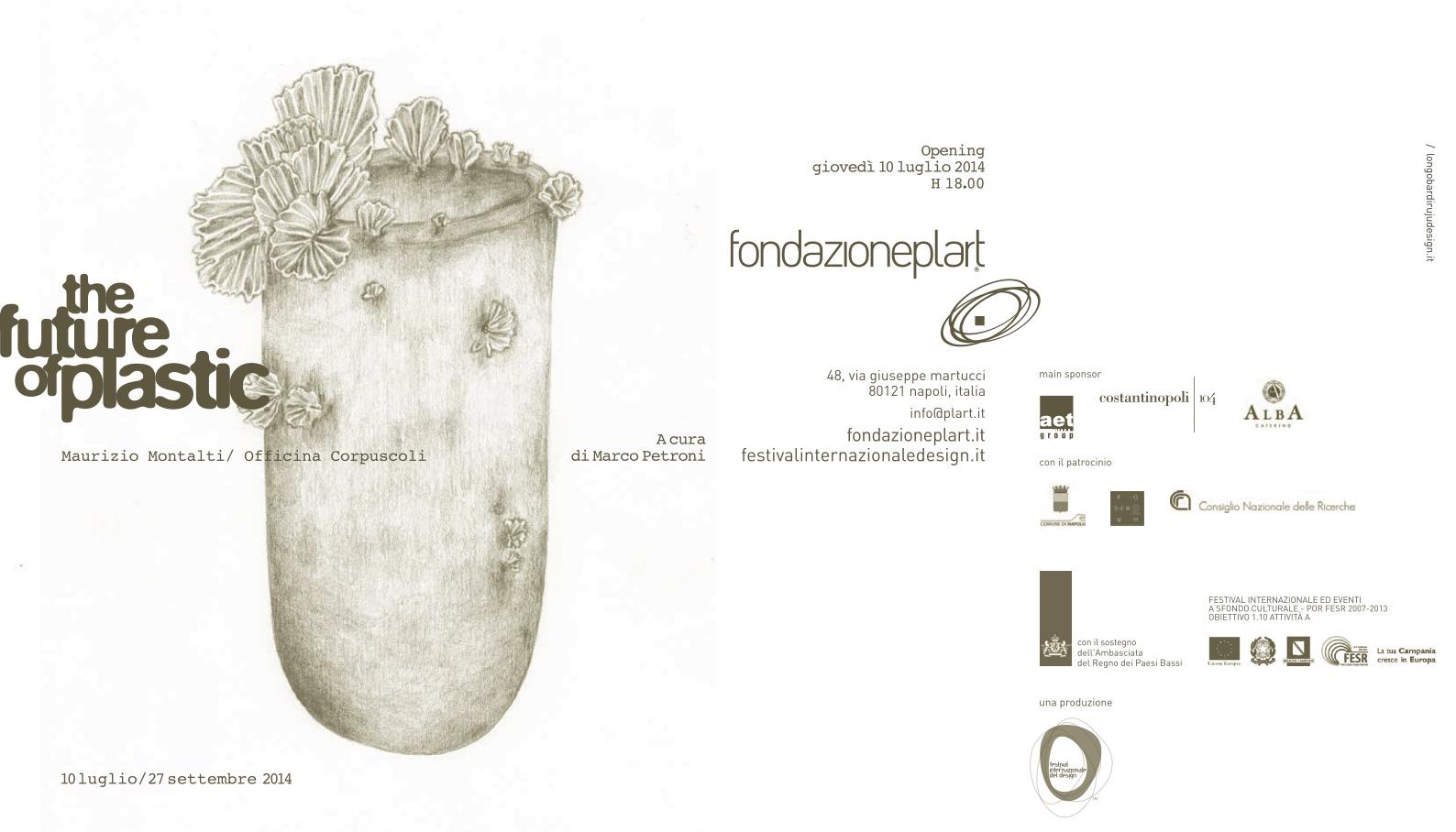 invitation opening - The Future of Plastic - Officina Corpuscoli_Maurizio Montalti @PLART