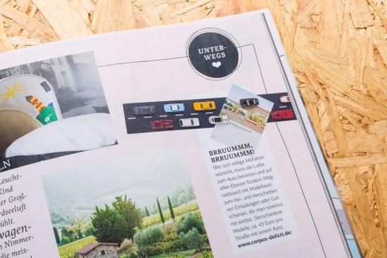 Magnetboard WallStreet auf Seite 125 der Brigitte MOM 01.2016 close up