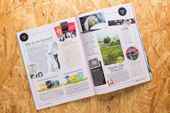 Magnetboard WallStreet auf Seite 125 der Brigitte MOM 01.2016