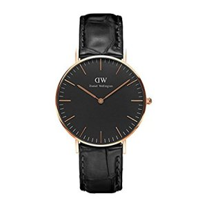 DANIEL WELLINGTON - BLACK CLOCK FACE, orologi eleganti uomo