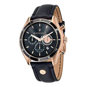 Maserati Orologio da Uomo Cronografo al Quarzo con Cinturino in Pelle – R8871624001, orologi maserati uomo