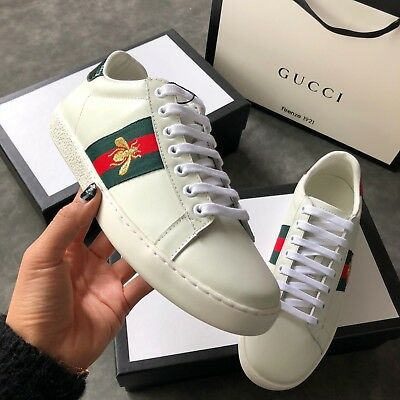 "GUCCI SNEAKERS ""NEW ACE"" IN PELLE E AYER, scarpe da donna"