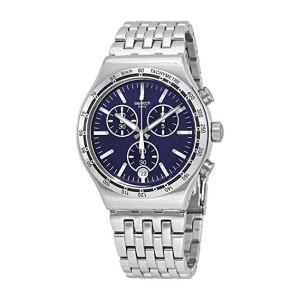 Swatch Orologio Cronografo Quarzo Uomo con Cinturino in Acciaio Inox YVS445G