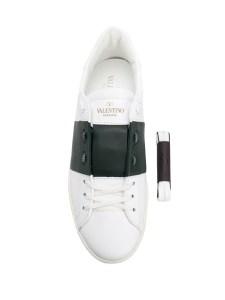 Vlentino Garavani sneakers uomo in pelle con fascia nera