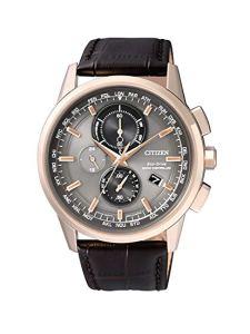 Citizen Orologio da polso da uomo radio Controlled Cronografo al Quarzo, in pelle AT8113 – 12H, orologi uomo eleganti