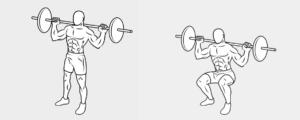 esercizi per dimagrire, squat
