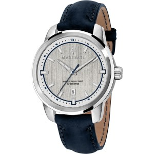 Maserati Orologio Analogico Quarzo Uomo con Cinturino in Pelle R8851121010, orologi uomo eleganti