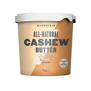 MyProtein Natural Cashew Butter Burro di Arachidi - 1 kg, proteine in polvere