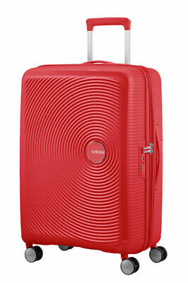 American Tourister Soundbox Spinner Small Expandable Bagaglio A Mano, 55 cm, 41 Liters, Rosso (Coral Red), VALIGIE DA VIAGGIO, TROLLEY