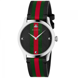 "OROLOGIO GUCCI ""G-TIMELESS"" IN PELLE"