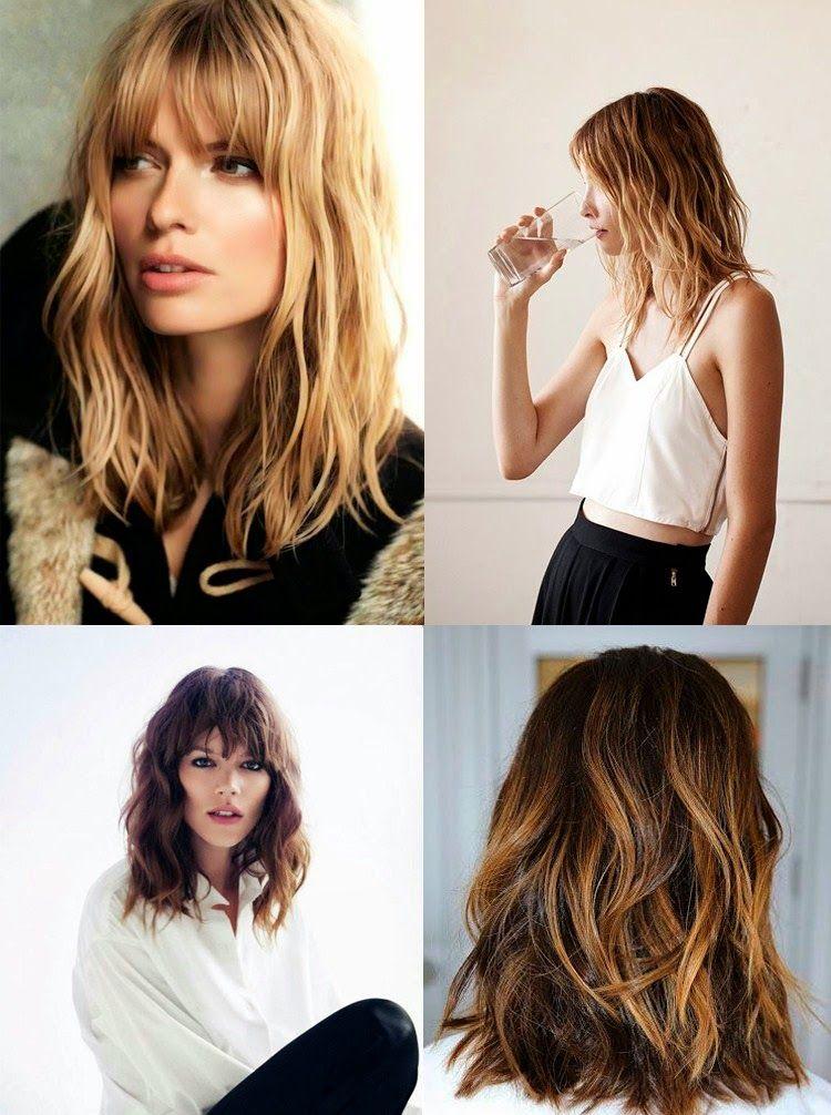 capelli medi, capelli donna, capelli con frangia, capelli ondulati