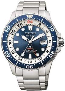 Citizen Promaster Diver 200 mt eco drive GMT BJ7111-86L Orologio da polso Uomo lunetta blu Supertitanio
