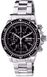 Marathon WW194014 Csar Swiss Made questione militare cronografo pilota automatico orologio con bracciale trizio (acciaio INOX)