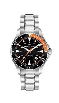 Hamilton Khaki Navy Scuba Auto / orologio uomo / quadrante nero / cassa e bracciale acciaio