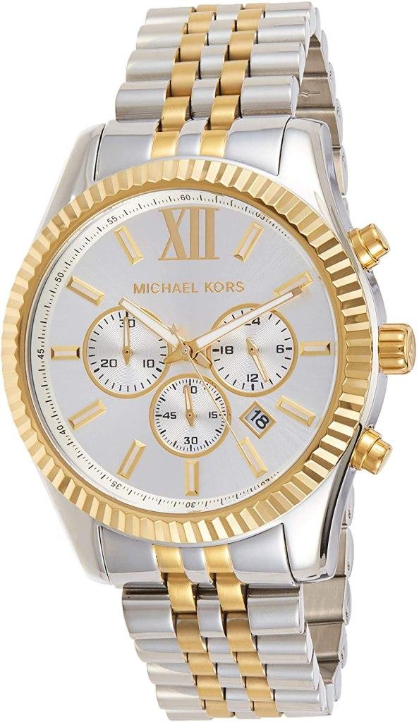 Michael Kors Orologio Cronografo Quarzo Uomo con Cinturino in Acciaio Inox MK8344