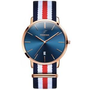 Firera BlueParis, orologio minimalista con cinturino nato per uomo
