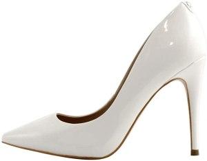 Guess Decollete Donna OKLEY 3 Tacco Cm 10 Leather White, SCARPE CON TACCO