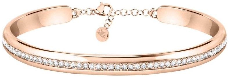 Morellato Bracciale da donna, Collezione Cerchi, in acciaio, PVD oro rosa, cristalli - SAKM74