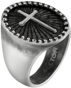 Sector Jewels Anello da uomo, Collezione SPIRIT, in acciaio - SZQ26027