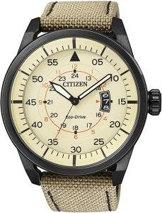 Citizen Aviator Eco Drive AW1365-19P - Orologio da polso Uomo, orologi militari