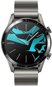 HUAWEI Watch GT 2 Smartwatch, Durata Batteria fino a 2 Settimane, GPS, 15 Modalità di Allenamento, Display del Quadrante in Vetro 3D, Chiamata Tramite Bluetooth, Grigio (Titanium Gray), 46 mm