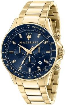 Maserati Orologio Uomo, Collezione SFIDA, in Acciaio, PVD Oro - R8873640008