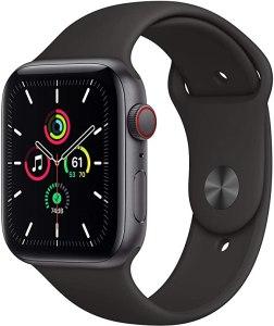 Apple Watch SE (GPS + Cellular, 44 mm) Cassa in alluminio grigio siderale con Cinturino Sport nero