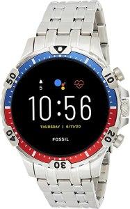 Fossil Smartwatch Touchscreen Connected Uomo con Cinturino in Acciaio Inossidabile FTW4040