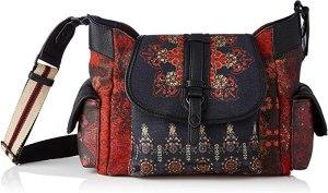 Desigual Fabric Shoulder Bag, Borsa a Tracolla. Donna, Nero, U
