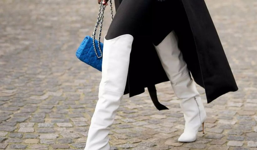 stivali donna 2021 2022, moda donna, stivali bianchi