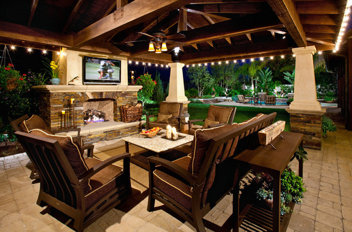 Covered Patios With Fireplaces | Interesting Ideas for Home on Covered Outdoor Kitchen With Fireplace id=62285