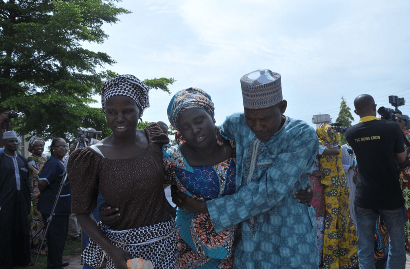 Chibok: It was all joy as Parents meet with daughters – See photos