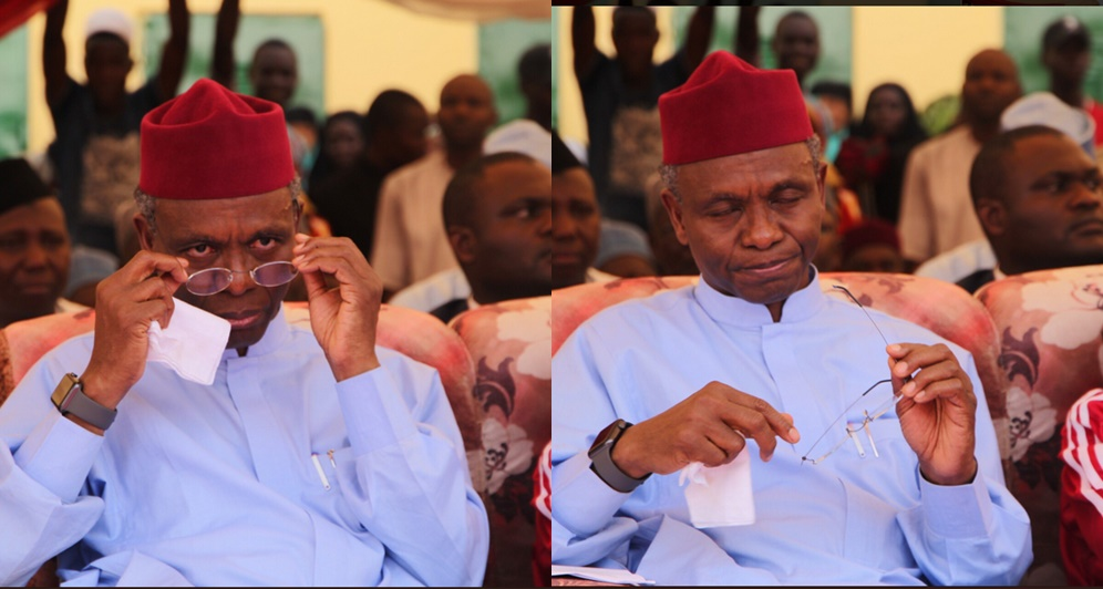Kaduna state governor, Nasir El Rufai, could not hold back his tears upon meeting boy whose eyes were removed by ritualists (photos)