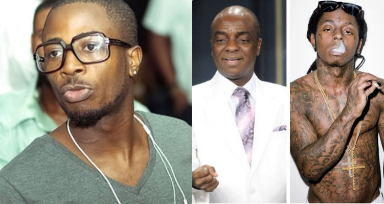 Fans Blasts Tunde Ednut for sharing collaged photo of Bishop Oyedepo and Lil'Wayne to wish them happy birthday.