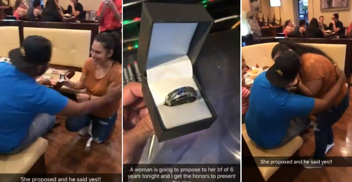 Lady proposes to her boyfriend of 6 years (Video/photos)
