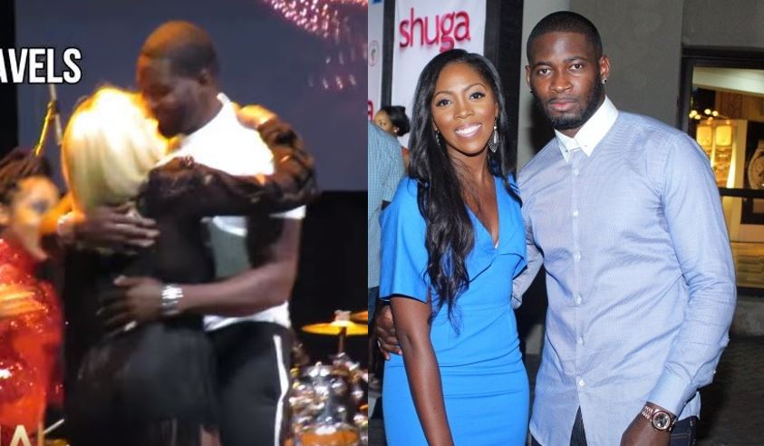 Tiwa Savage's husband surprises her on stage while she was performing in Texas (Video)