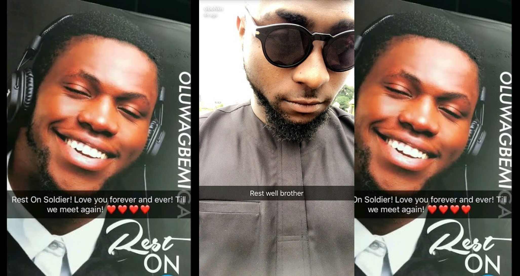 'RIP Olu, Imma conquer the world for you lil bro, I promise' – Davido