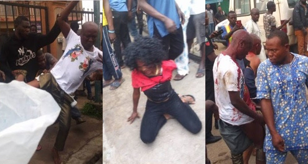 'One chance' operators, including a lady beaten mercilessly after a former victim recognizes them (Photos)