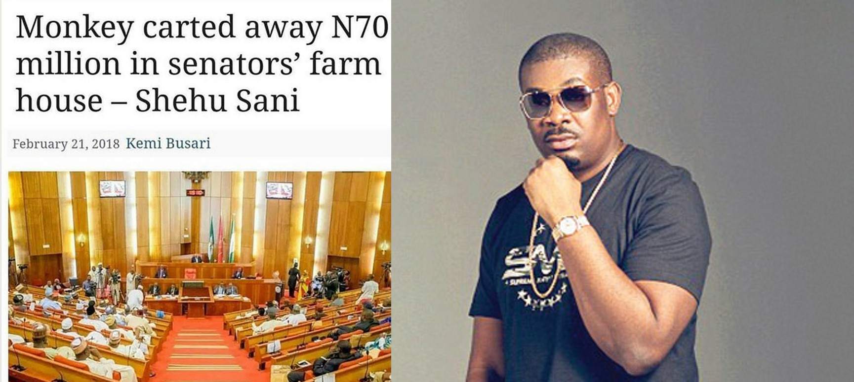 'Snake and the monkey shadow' – Don Jazzy's Reacts to reports of monkeys carting away N70 Million