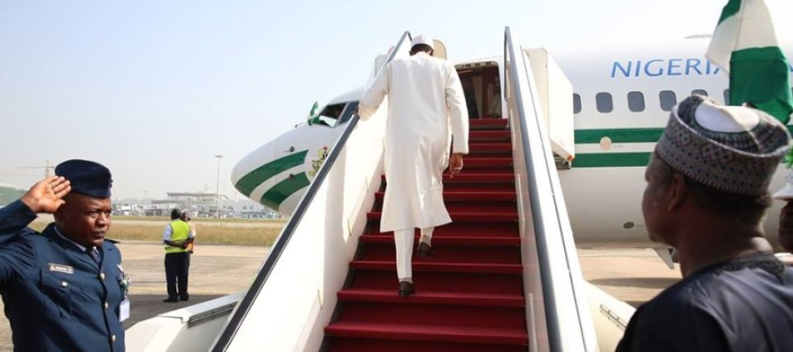 Image result for buhari in plane