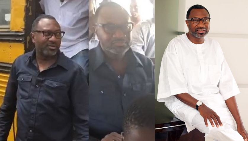 Billionaire businessman, Femi Otedola, shares video of himself inside a 'Molue' busen routing from Sango to Agege (Video)