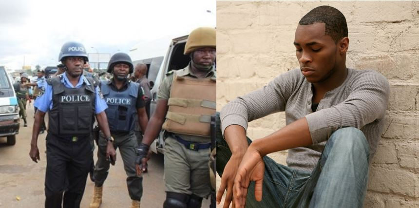 A Nigerian guy narrates how Police pushed him into their car and collected 7k from him